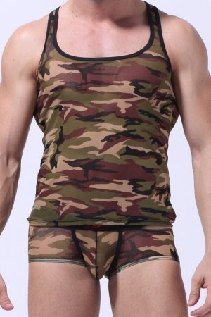 WJ Army Bown Tank Top