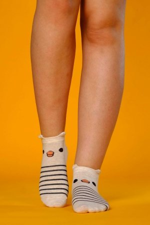 Supa! Sox! Beige Teddy ladies socks