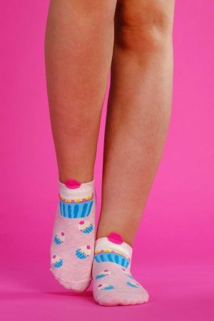 Supa! Sox! Pink Cupcake ladies socks