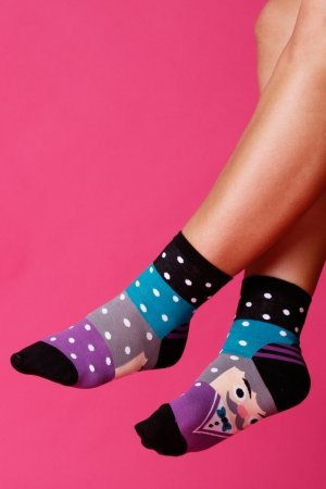 Supa! Sox! Purple Schoolboy ladies socks (JP6121)