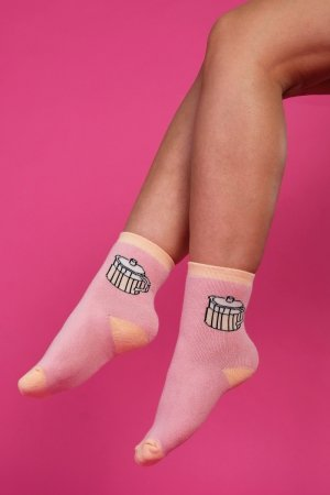 Supa! Sox! Pink Pot ladies socks