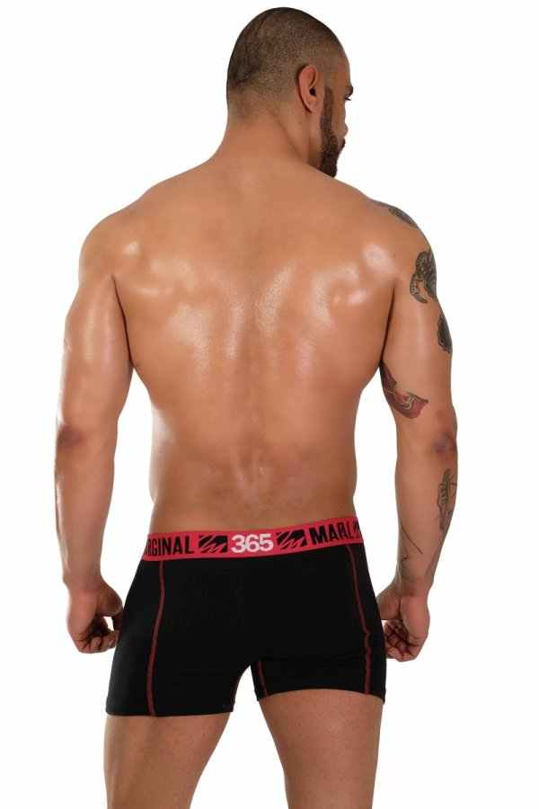 Boxerky MARGINAL 365 Black+Red