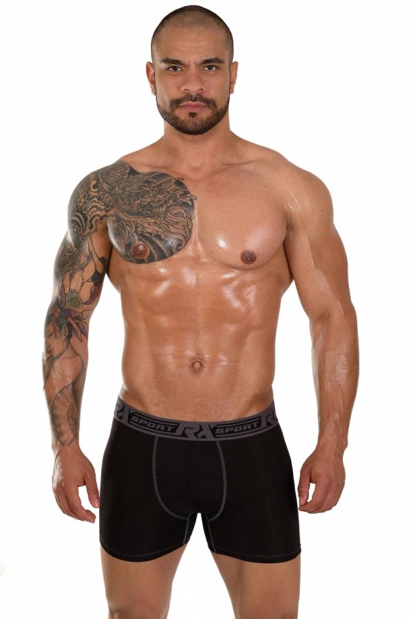 Boxerky RX SPORT Technic Black+Grey