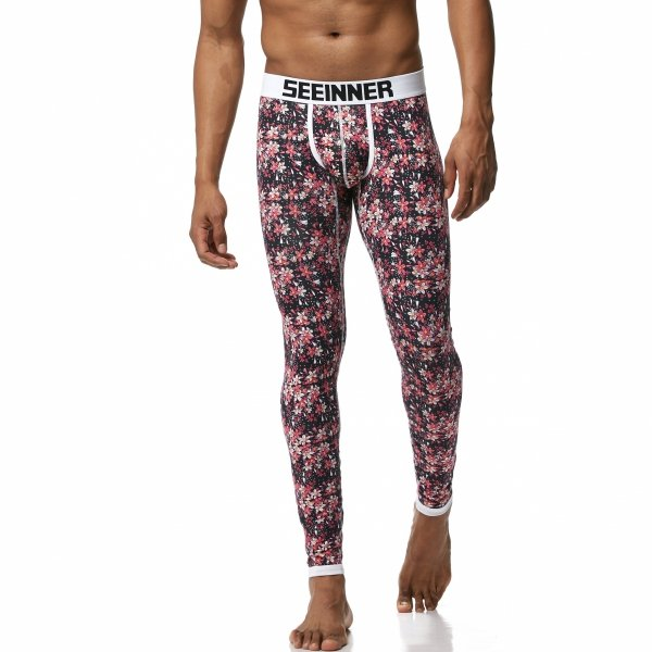 Long Johns SEEINNER Red Flowers
