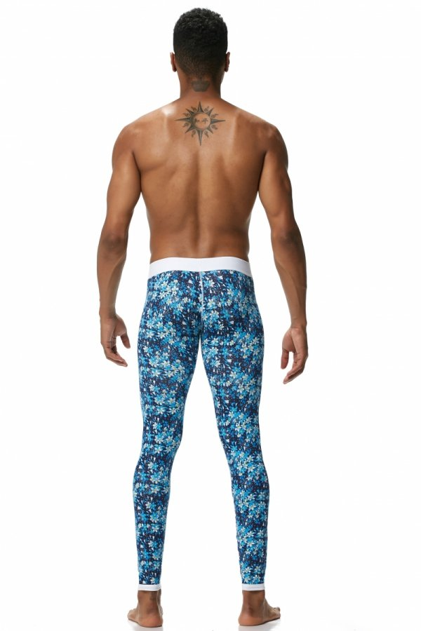 Long Johns SEEINNER Blue Flowers