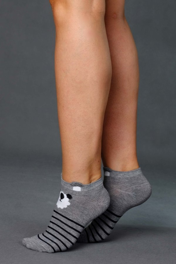 Supa! Sox! Grey Teddy ladies socks