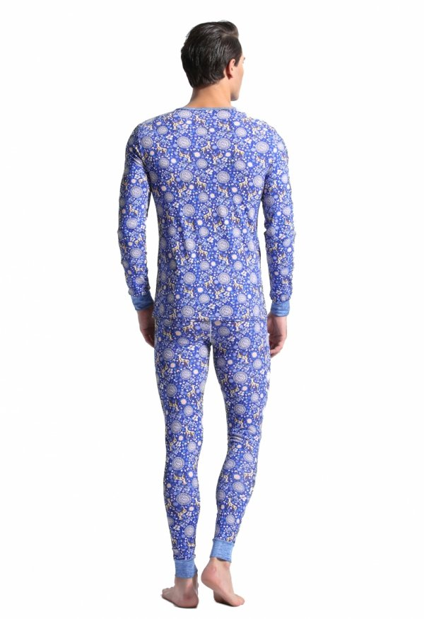 Komplet Termoaktywny BODY GMW Reindeer Royal Blue