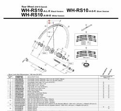Nypel Shimano WH-RS10 srebrny
