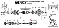 Element przeniesienia napędu Shimano Nexus SG-3C40