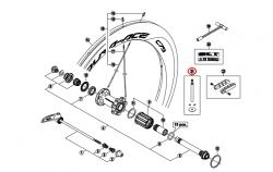 Przedłużenie wentyla Shimano WH-9000-C75