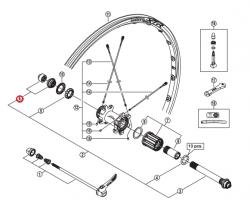 Stożek piasty tył Shimano WH-M985-R lewy (uszczelka)