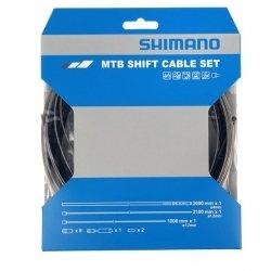 Zestaw linek przerzutki Shimano MTB Optislik Pancerz Czarny