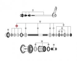 Stożek piasty tył Shimano FH-M530/510 525/MC18/MC33/MC32 (M10X16mm) lewy
