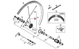 Szprycha Shimano 274mm z podkładką do WH-7801-R CARBON prawa