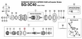 Wianek Shimano z kulkami K (7/32X10) do piasty Nexus SG-3C40