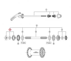 Stożek piasty przód Shimano HB-2200/460 4400/4500 lewy/prawy