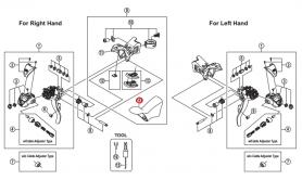 Osłona gumowa dźwigni Shimano ST-3500 (para)