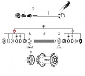 Stożek piasty przód Shimano HB-RM65/M495 lewy