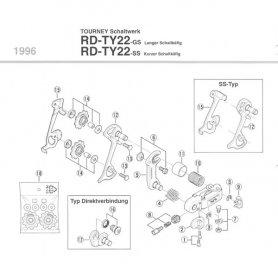 Adapter do wszystkich przerzutek Shimano RD-TY mocowanie na śrubę