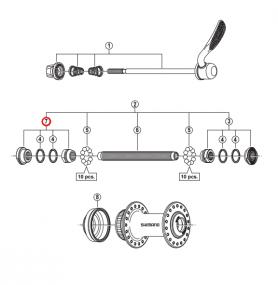 Stożek piasty przód Shimano HB-RM66 lewy