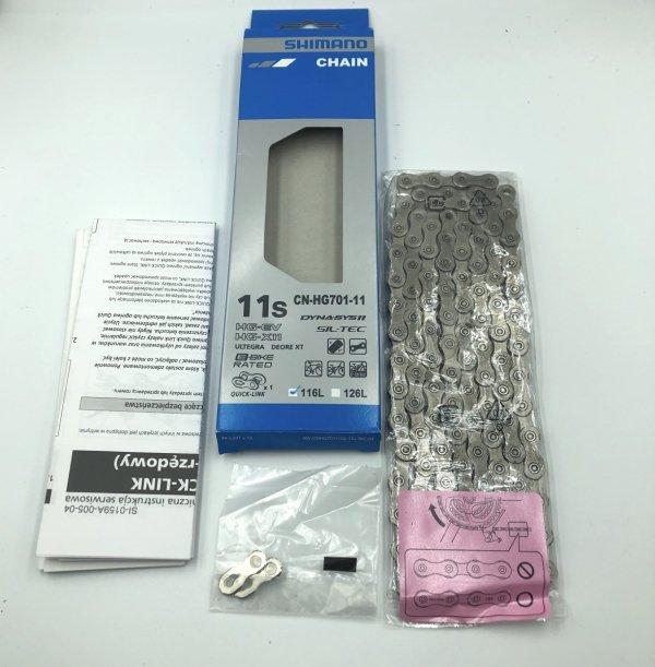 Łańcuch Shimano CN-HG701-11 +Spinka