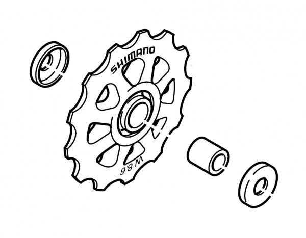 Kółko przerzutki Shimano do RD-C050/TX70/50/30 górne