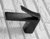 REA - Bateria umywalkowa niska SONIC czarna BLACK