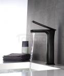 REA - Bateria umywalkowa czarna black SOHO HIGH wysoka