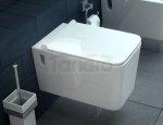 REA - Miska WC wisząca CUBIK SLIM + deska wolnoopadająca duroplastowa