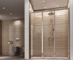 REA - Drzwi prysznicowe przesuwne ALEX 120cm