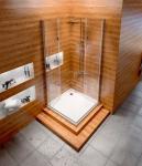 REA - Kabina prysznicowa kwadratowa FOLD N NEW 90X90 powłoka Easy Clean