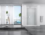 REA - Drzwi prysznicowe SLIDE PRO 120cm transparent przesuwne