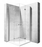 REA - Kabina prysznicowa MODUŁ FOLD kwadratowa podwójne drzwi składane 100x100