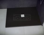 BESCO - Brodzik prysznicowy NOX BLACK ULTRASLIM  100X90X3