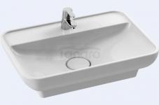 CeraStyle - Umywalka ceramiczna nablatowa / wpuszczana w blat LAL 60 PROSTOKĄTNA