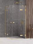 NEW TRENDY Kabina prysznicowa podwójne drzwi uchylne AVEXA GOLD SHINE Linia Platinium 90x80x200 EXK-1696