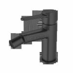 INVENA - Bateria bidetowa GLAMOUR stojąca czarna  BB-02-004