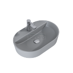 ELITA- Umywalka ceramiczna nablatowa BABETTE 62 LIGHT GREY MATT 145103