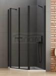 NEW TRENDY Kabina prysznicowa pięciokątna NEW SOLEO BLACK 100x80x195 K-0618