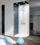 SKIENDI - Kabina asymetryczna z podwójnymi drzwiami uchylnymi PARIS PDD