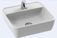 CeraStyle - Umywalka ceramiczna nablatowa ONE PROSTOKĄTNA z otworem na baterię