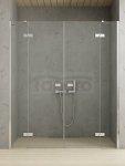 NEW-TRENDY drzwi prysznicowe wnękowe podwójne REFLEXA