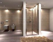REA - Drzwi prysznicowe WESTERN SPACE z powłaką  N2 80cm Easy Clean