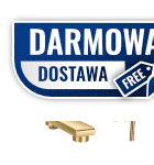 OMNIRES - Bateria wannowa komplet ścienna złota/gold DA5031GL DARLING