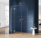 NEW TRENDY - Kabina prysznicowa prostokątna AVEXA GOLD EXK-1728/1729 Złote Profile 80x70x200