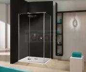 SANPLAST - Free Line KNDJ2/FREE-80x120-S kabina narożna prostokątny 800 x 1200 x 1950 mm chrom/srebrny błyszczący szkło hartowane transparentne W0 Glass protect  beSMART