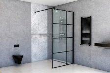 Sea Horse -  Easy IN Nero kabina prysznicowa czarna-black typu walk-in 80 x 200 BK251T08A6