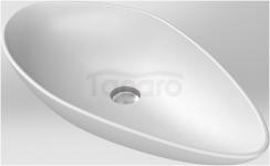 CeraStyle Umywalka ceramiczna OLIVE 75cm BIAŁY MAT