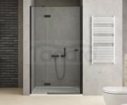 NEW TRENDY Drzwi wnękowe prysznicowe REFLEXA BLACK 80x200 EXK-1320 POLSKA PRODUKCJA