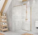NEW TRENDY Kabina ścianka prysznicowa walk-in VELIO SATIN GOLD 130x200 8mm D-0200B